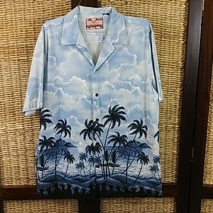 Blue/White Shirt Made In Hawaii